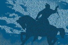 Cavaliere del cavallo del testo Fotografia Stock