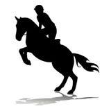 Cavaliere del cavallo, illustrazione di vettore Fotografie Stock Libere da Diritti