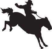 Cavaliere del cavallo selvaggio illustrazione di stock