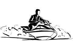 Cavaliere del jet ski Immagine Stock