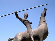Cavaliere del monumento Fotografia Stock