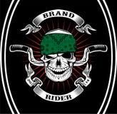 Cavaliere del motociclista del cranio Fotografia Stock