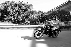 Cavaliere del motociclo Fotografie Stock