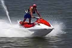 Cavaliere del motorino dell'acqua fotografie stock