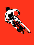 Cavaliere del mountain bike Fotografie Stock