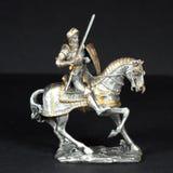 Cavaliere del peltro Immagine Stock