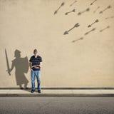 Cavaliere dell'ombra Fotografia Stock Libera da Diritti
