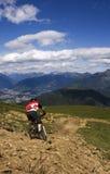 Cavaliere della bici Fotografia Stock Libera da Diritti