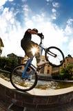 Cavaliere della bici Fotografia Stock
