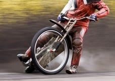 Cavaliere della gara motociclistica su pista del motociclo Immagine Stock Libera da Diritti