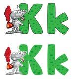 Cavaliere della lettera K Fotografia Stock