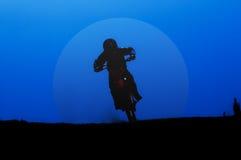 Cavaliere della luna Fotografia Stock