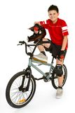 Cavaliere di BMX Fotografie Stock Libere da Diritti