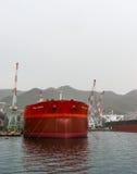 Cavaliere di FPMC C (autocisterna del petrolio greggio) al cantiere navale di Kure nel Giappone Immagine Stock Libera da Diritti