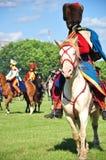 Cavaliere di Hussar Fotografia Stock