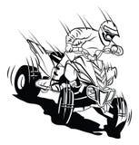 Cavaliere di moto di ATV Fotografia Stock
