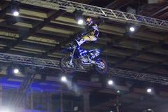 Cavaliere di Motobike Fotografia Stock