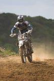 Cavaliere di motocross Immagine Stock