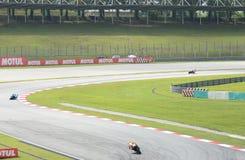 Cavaliere di MotoGP ad accantonare nell'azione fotografia stock