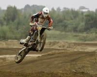 Cavaliere di Motorcross Fotografie Stock Libere da Diritti