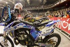 Cavaliere di stile libero della motocicletta Immagini Stock Libere da Diritti