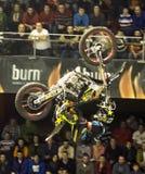 Cavaliere di stile libero della motocicletta Fotografia Stock Libera da Diritti