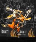 Cavaliere di stile libero della motocicletta Immagini Stock