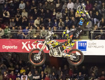 Cavaliere di stile libero della motocicletta Fotografie Stock Libere da Diritti