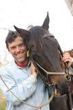 Cavaliere e cavallo fotografie stock