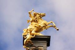 Cavaliere e mostro Fotografia Stock