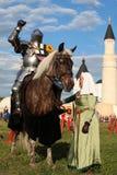 Cavaliere e signora del ferro Fotografia Stock Libera da Diritti