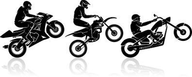 Cavaliere estremo della motocicletta Immagine Stock
