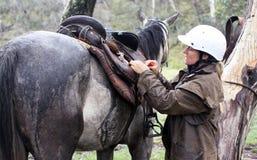 Cavaliere femminile fotografie stock libere da diritti