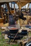 Cavaliere Games Ehrenberg 2018 Cucina di medio evo fotografia stock