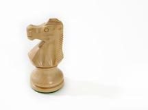 Cavaliere isolato di scacchi Fotografie Stock Libere da Diritti
