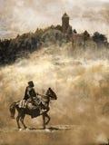 Cavaliere medievale Fotografia Stock