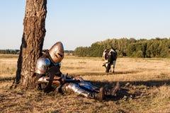 Cavaliere medievale Fotografia Stock Libera da Diritti