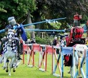 cavaliere medievale a cavallo Immagine Stock