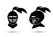 Cavaliere medievale In Helmet illustrazione vettoriale