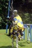 cavaliere medioevale su a cavallo immagini stock libere da diritti