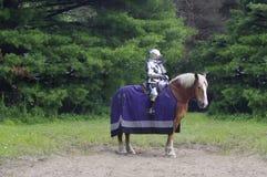 Cavaliere medioevale sul cavallo immagini stock libere da diritti