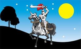 Cavaliere nella notte royalty illustrazione gratis