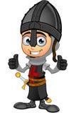 Cavaliere nero del ragazzo - due pollici su illustrazione di stock
