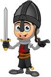 Cavaliere nero del ragazzo - indicando illustrazione vettoriale