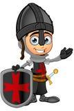 Cavaliere nero del ragazzo - presentando royalty illustrazione gratis