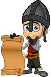 Cavaliere nero del ragazzo - tenere un rotolo illustrazione vettoriale