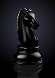 Cavaliere nero di scacchi - vettore Fotografia Stock Libera da Diritti