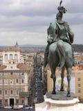 Cavaliere Roma del monumento Fotografie Stock Libere da Diritti