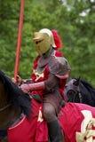 Cavaliere rosso Fotografia Stock Libera da Diritti