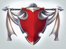 Cavaliere Shield Emblem Immagine Stock